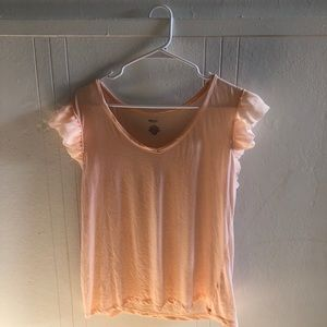 Jennifer Lopez Apricot Flutter Sleep Top, Large